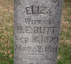 Eliza <i>Cook</i> Butt
