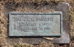 Alice M. <i>Barnes</i> Bartlett