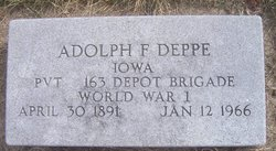 Adolph F Deppe
