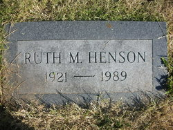 Ruth M. <i>Reese</i> Henson
