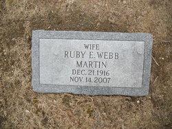 Ruby E. <i>Webb</i> Martin