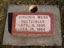 Virginia <i>Webb</i> Holtzinger