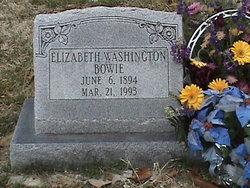 Elizabeth Wirt <i>Washington</i> Bowie