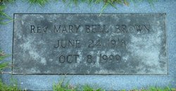 Rev Mary Bell Brown