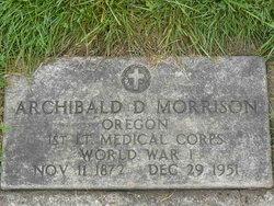 Dr Archibald D Morrison