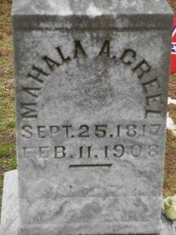 Mallia Mahala Ann <i>Stone</i> Creel