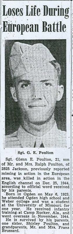 Sgt Glenn E Poulton