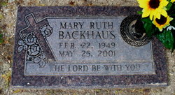 Mary Ruth Backhaus