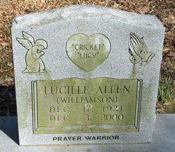 Lucille Lucy <i>Williamson</i> Allen