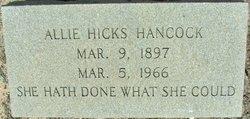 Allie <i>Hicks</i> Hancock