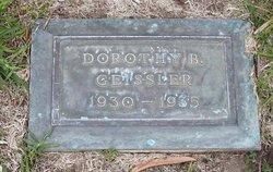 Dorothy B Geissler