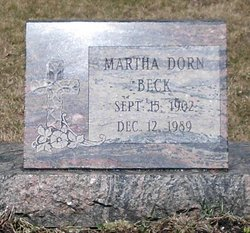 Martha <i>Dorn</i> Beck