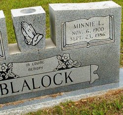 Minnie E. <i>Scruggs</i> Blalock
