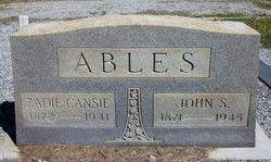 Zadie Cansie <i>Hogg</i> Ables