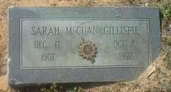 Sarah <i>McCuan</i> Gillispie