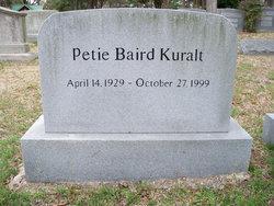 Suzanne Petie <i>Baird</i> Kuralt