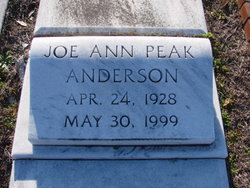 Joe Ann <i>Peak</i> Anderson