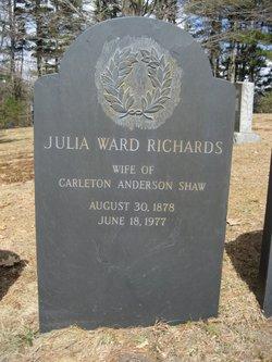 Julia Ward <i>Richards</i> Shaw