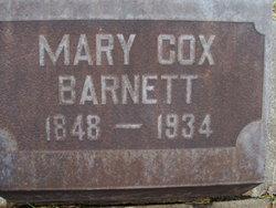 Mary <i>Cox</i> Barnett