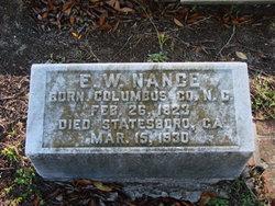 Edward W Nance