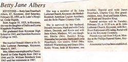 Betty Jane <i>Feuerbach</i> Albers