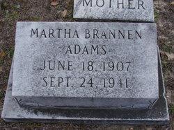 Martha <i>Brannen</i> Adams