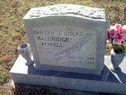 Carolyn J <i>Stroud</i> Baldridge Powell