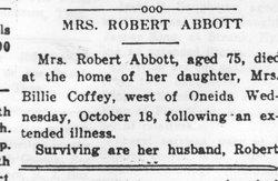 Gennettie Margret <i>Clark</i> Abbott