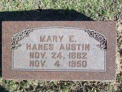 Mary E <i>Hanes</i> Austin
