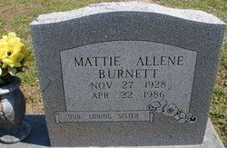 Mattie Allene Burnett