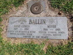 Anne <i>Cohen</i> Ballin