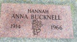 Anna Hannah <i>Maisden</i> Bucknell