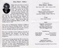 Edna C. <i>Artz</i> McKee
