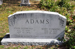 Mary <i>Cumming</i> Adams