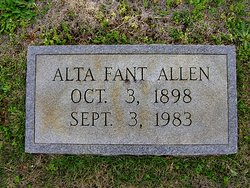 Alta Roberta <i>Fant</i> Allen