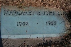 Margaret E <i>Watts</i> Johnson