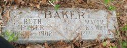 Martha Jane Mattie <i>Barnett</i> Baker