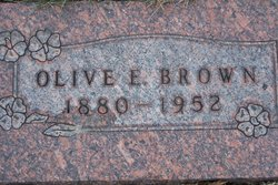 Olive E <i>Chapman</i> Brown