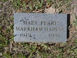 Mary Pearl <i>Markham</i> Harvey