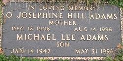 Olive Josephine <i>Hill</i> Adams