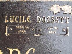 Lucille <i>Dossett</i> Claiborne
