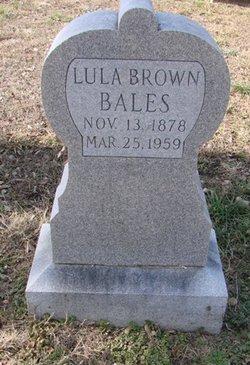 Lula <i>Brown</i> Bales