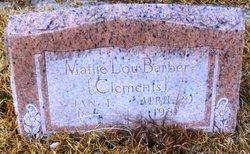 Mattie Lou <i>Clements</i> Barber