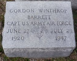 Capt Gordon Winthrop Barrett
