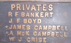 Pvt Andrew McKinney Mack Campbell