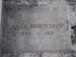 Callie <i>Mounts</i> Davis