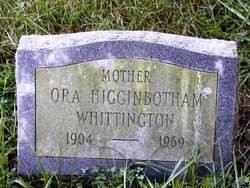 Ora Jane <i>Higginbotham</i> Whittington