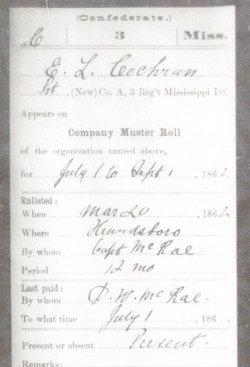 Pvt Edward Lafayette Cochran