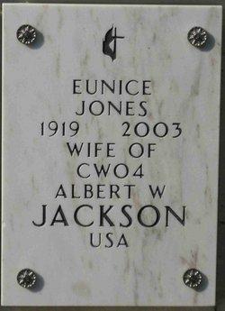 Eunice <i>Jones</i> Jackson