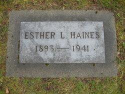 Esther <i>Kentopf</i> Haines